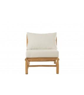Krzesło SENCILO Teak Naturalny w stylu boho, eko, skandynawskim, do ogrodu, na altankę, na taras, na plażę