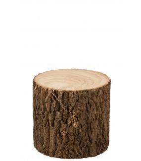 Stolik Drewno Paulownia Naturalne do salonu w stylu industrialnym. Idealny do pokoju dziennego w stylu boho lub eko.