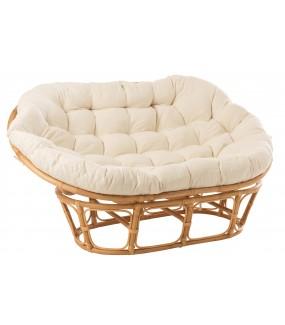 Fotel RONI Rattanowy Naturalny do salonu, pokoju, na taras, do ogrodu, w stylu eko, boho, nowoczesnym, skandynawskim