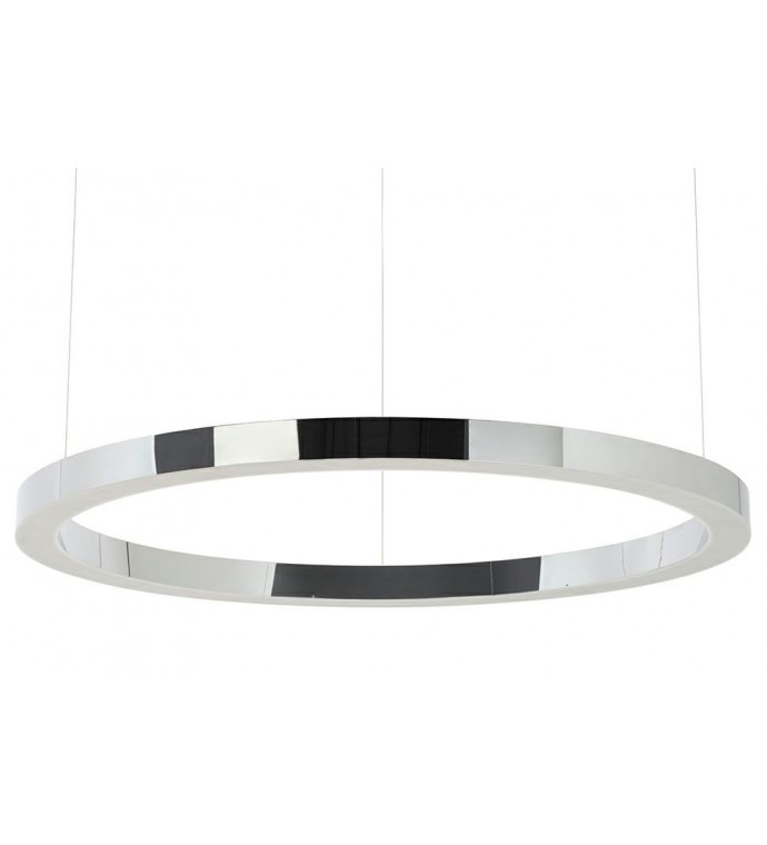 Lampa wisząca RING 100 cm srebrna