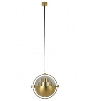 Złota lampa wisząca Varia idealna do wnętrz w stylu nowoczesnym