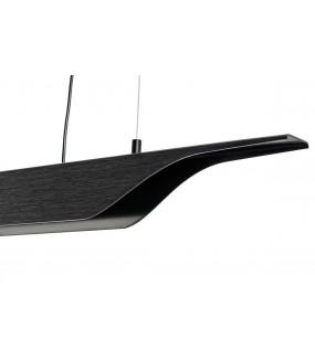 Lampa wisząca VERTIGO 125 cm czarna do salonu