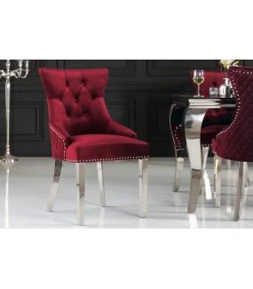 Krzesło OXANA Modern Barock Czerwone do salonu zaaranżowanego w barokowym stylu.  Będzie pięknie wyglądał w nowoczesnej jadalni.