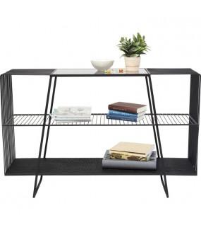 Konsola MESH 120 cm czarna do pokoju, salonu, przedpokoju, sypialni, w stylu nowoczesnym, industrialnym, skandynawskim
