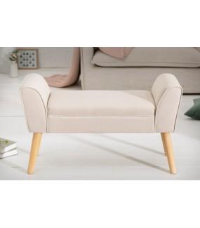 Ławka SCARLETT 90 cm beżowa do salonu w stylu nowoczesnym. Doskonale sprawdzi się w pokoju w stylu skandynawskim.