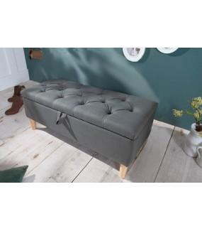 Ławka ARIETT 100 Cm brązowa do salonu w stylu skandynawskim. Idealna do pokoju lub przedpokoju w stylu retro.