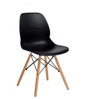 Krzesło LEAF WOOD czarne