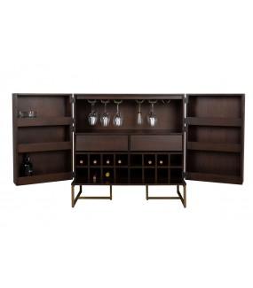 Stojak na wino CLASS do kuchni lub jadalni w stylu retro lub eko. Sprawdzi się w salonie w stylu skandynawskim.