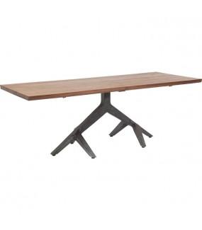 Stół ROOTS DARK  220 cm x 100 cm do salonu w stylu industrialnym. Idealny do pokoju dziennego w stylu skandynawskim.