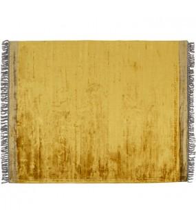 Dywan SOLEIL 240 cm x 170 cm żółty do salonu w stylu boho. Idealny do pokoju dziennego w stylu nowoczesnym