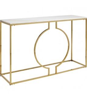 Konsola MIAMI LOFT 120 cm złota do salonu w stylu nowoczesnym lub glamour. Idealna do przedpokoju w stylu boho.