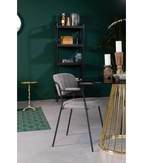 Stół FLORIS 100 cm złoty do salonu w stylu glamour. Idealny do pokoju w stylu retro. Sprawdzi się w jadalni w stylu nowoczesnym.