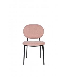 Fotel Spike różowy w stylu nowoczesnym do salonu lub  jadalni od marki Zuiver. Sprawdzi się w pokoju dziennym w stylu retro.