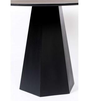 Stół PILAR czarny 100 cm idealny po pokoju w stylu industrialnym. Sprawdzi się w jadalni w skandynawskim stylu.