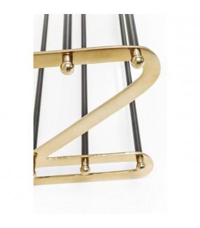 Szafka na buty WALK 84 cm złoto - czarna idealna po przedpokoju w stylu nowoczesnym. Sprawdzi się w industrialnej garderobie.