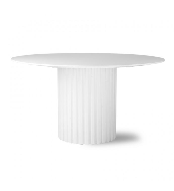 Stół PILLAR 140 cm Biały do salonu w stylu skandynawskim. Idealny do jadalni w stylu nowoczesnym.