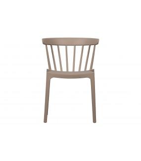 Krzesło BLISS nude outdoor idealne na balkon lub taras. Sprawdzi się w jadalni w stylu industrialnym.