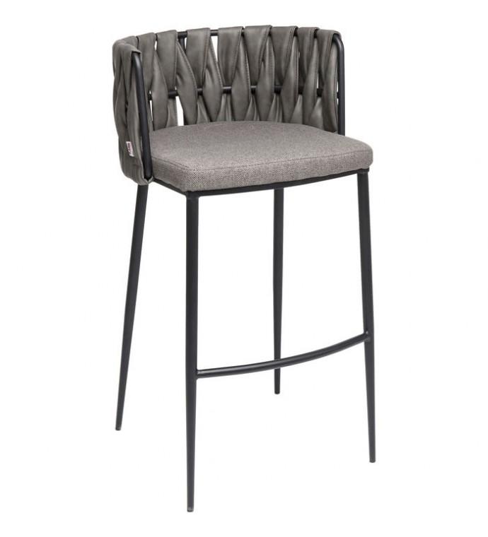 Krzesło barowe Cherio szare