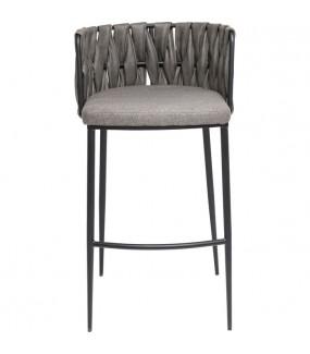 Krzesło barowe Cherio szare do salonu