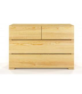 Komoda DERECHO sosna naturalny do salonu lub pokoju w stylu nowoczesnym. Sprawdzi się w przedpokoju w stylu skandynawskim.