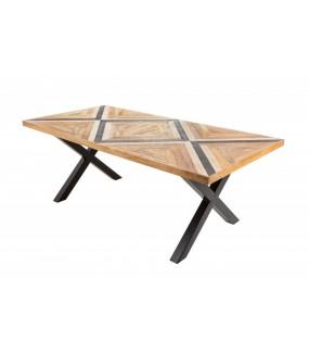 Stół LONA 200 cm Mango do jadalni w stylu retro. Fajnie będzie się prezentował w pokoju w stylu industrialnym.