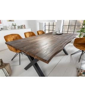 Stół GENESIS VINTAGE 160 cm akacja brązowy idealny do jadalni w stylu vintage. Sprawdzi się w kuchni w stylu industrialnym.