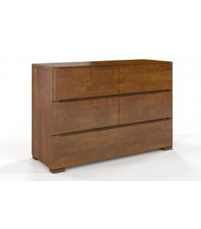 Komoda GERADE 5 szuflad buk 120 cm dąb rustical do salonu w stylu nowoczesnym.