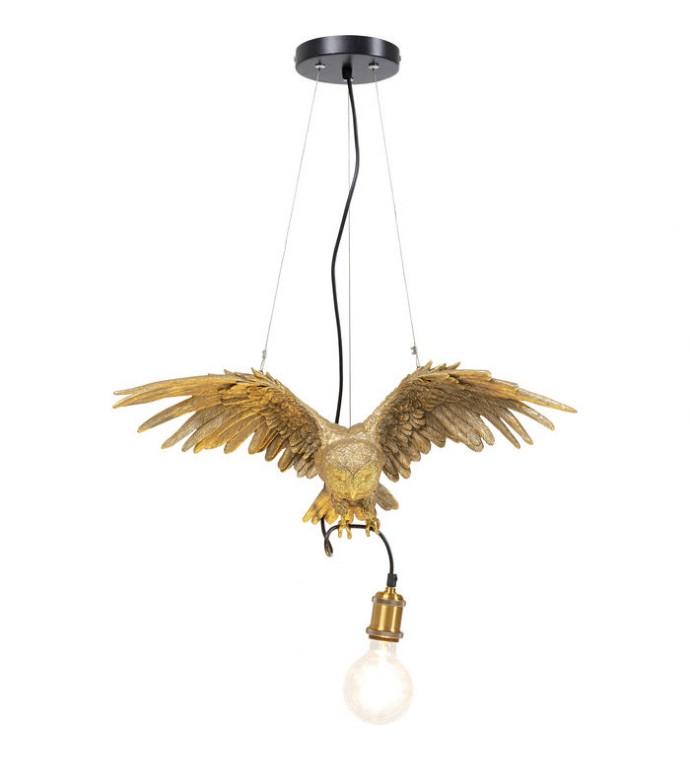 Lampa wisząca ANIMAL OWL złoty idealna do salonu w stylu glamour. Fajnie będzie się prezentować w pokoju w stylu nowoczesnym.