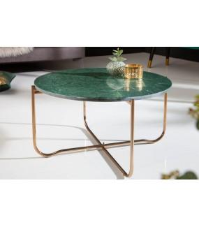 Stolik kawowy Noble zielony marmur