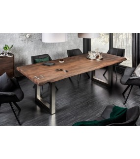 Stół ARKTYKA 220 cm akacja do salonu w stylu industrialnym. Idealny do jadalni w stylu loft.