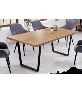 Stół Stół MUSTANG 180 cm w kolorze dębu do salonu w stylu industrialnym.