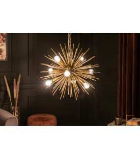 Lampa wisząca SOLARLJOS 50 cm złoty do salonu w stylu glamour.
