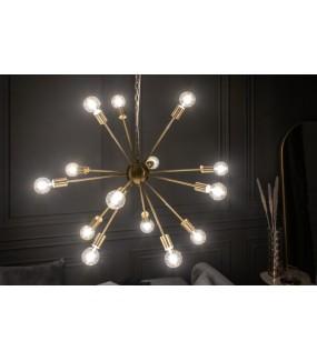 Lampa wisząca FIREWORKS 85 cm złota salonu w stylu retro lub vintage. Idealna do nowoczesnego pokoju.