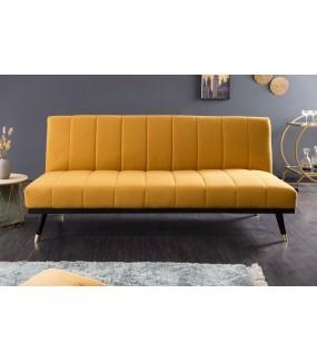 Sofa Belissima 180 Cm musztardowo - żółta do salonu lub pokoju w stylu nowoczesnym.