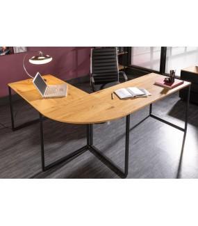 Biurko narożne BIG DEAL 180 cm w kolorze dębu idealne do gabinetu lub biura w stylu industrialnym. Sprawdzi się także w pokoju.