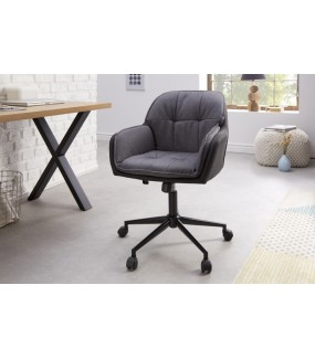 Krzesło biurowe ROTARY szary antracyt  do gabinetu lub biura w stylu nowoczesnym.