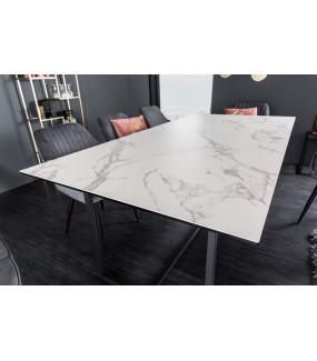 Stół SORISSO 200 cm ceramika o wyglądzie marmuru do salonu w stylu loft.