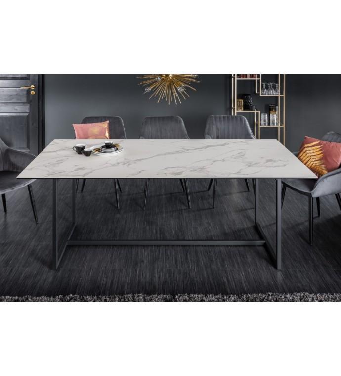 Stół SORISSO 200 cm ceramika o wyglądzie marmuru do salonu w stylu art deco.