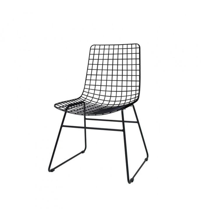 Krzesło metalowe Wire czarne
