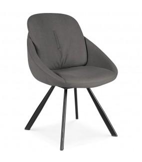 Krzesło NABO antracytowe do salonu
