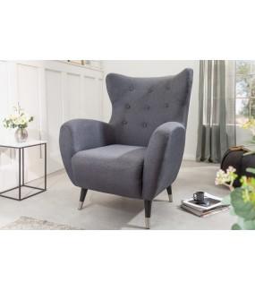 Bardzo wygodny fotel ORION w kolorze antracytowym do pokoju w stylu nowoczesnym.