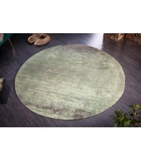 Dywan Modern Art 120 cm zielono beżowy idealnie wpisze się we wnętrza nowoczesnego salonu jak i pokoju w stylu retro.