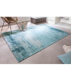 Miękki turkusowy dywan MODERN ART do salonu w stylu art deco. idealny do pokoju zaaranżowanym w stylu industrialnym.