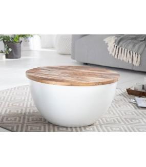 Praktyczny biały stolik do pokoju w stylu skandynawskim. Idealny do salonu nowoczesnego.
