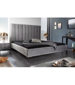 Łóżko Cosmo 160 cm x 200 cm srebrnoszary aksamit