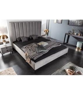 Łóżko Cosmo 180 Cm X 200 Cm Srebrnoszary Aksamit