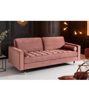 Wygodna sofa CANIS VELVET 225 Cm idealna do salonu w stylu nowoczesnym. Sprawdzi się w pokoju zaaranżowanym w stylu retro.