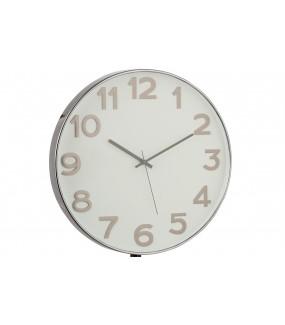 Zegar Arabic 40 cm srebrny