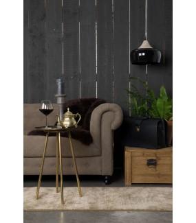 Stolik Eliot Antyczny Mosiądz do salonu w stylu rustykalnym. Idealny do pokoju w stylu industrialnym.