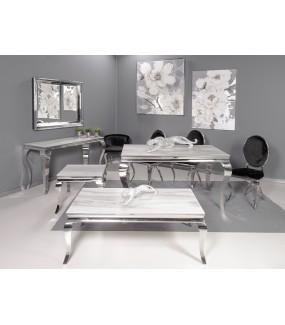 Konsola Modern Barock GLORIA 150 cm w optyce marmuru do salonu